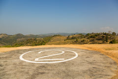 Helicopter pad Royalty Free Stock Images