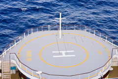 Helicopter Pad on Ships Bow Royalty Free Stock Photo