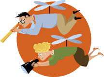 Helicopter parenting stock illustration