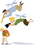 Helicopter parenting Stock Photography