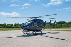 Helicopter parked at the helipad Royalty Free Stock Image