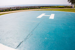 Helicopter parking spot Stock Photo
