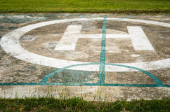 Helicopter parking spot Stock Images
