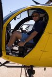 Helicopter pilot Royalty Free Stock Photo