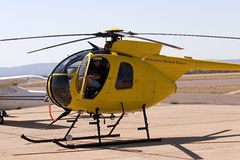 Helicopter pilot Stock Image