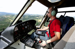 Helicopter pilot Royalty Free Stock Image