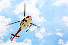 Helicopter with pilot royalty free stock images