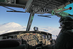 Helicopter pilot in Antarctica Stock Images
