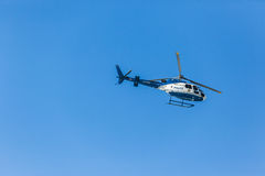 Helicopter Police Aircraft Blue Sky Stock Photography