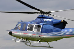 Helicopter police patrol Stock Image