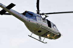 Helicopter police patrol Royalty Free Stock Photo