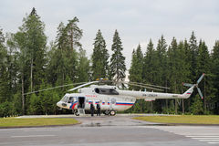 The helicopter of the President of Russia Royalty Free Stock Images