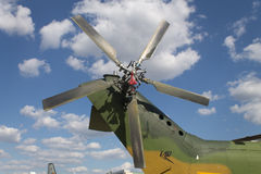 Helicopter propeller Stock Photos