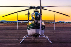 Helicopter on the Ramp. In Southern Utah royalty free stock photography