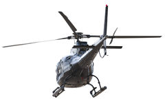Helicopter rear side isolated Royalty Free Stock Images
