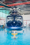 Helicopter repair hangar Royalty Free Stock Image