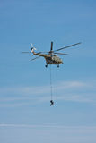 Helicopter rescue Stock Image