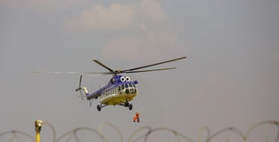 Helicopter in the rescue operation!. Stock Photography