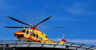 Helicopter rescue Pegasus of Italian 118 Royalty Free Stock Photography