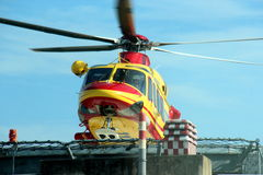 Helicopter rescue Pegasus of Italian 118 Stock Photo