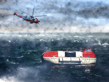 Helicopter Rescue Stock Images