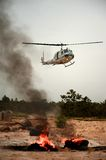 Helicopter rescue survivors Royalty Free Stock Photos
