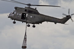 Helicopter resupply Stock Image