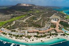 Helicopter Ride - Curacao  Santa Barbara  coastline Stock Image
