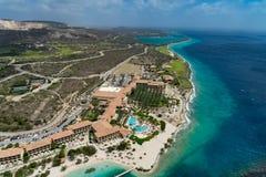 Helicopter Ride - Curacao  Santa Barbara  coastline Stock Images