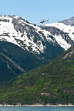 Helicopter Rides over Skagway, Alaska Royalty Free Stock Photos