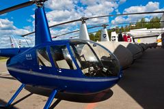 Helicopter Robinson 44 Stock Images