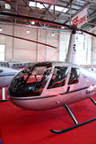 Helicopter Robinson  R44 Clipper. MOSCOW - MAY 19: Helicopter Robinson  R44 Clipper at the international exhibition of  the helicopter industry, HeliRussia on Royalty Free Stock Photos