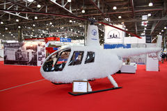 Helicopter Robinson R44 White Eagle concept Stock Image
