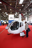 Helicopter Robinson R44 White Eagle concept. MOSCOW - MAY 19: Helicopter Robinson R44 White Eagle concept at the international exhibition of  the helicopter Royalty Free Stock Photography