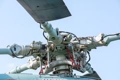Helicopter rotor blade detail close up. Royalty Free Stock Photos