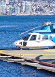 Helicopter and sea Stock Photos