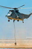 Helicopter Seaking Royalty Free Stock Images