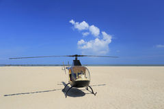 The helicopter on the seaside Stock Photos