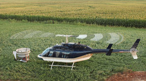 Helicopter. And seed hopper royalty free stock image