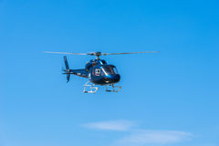 Helicopter service in the port of Barcelona Royalty Free Stock Photography