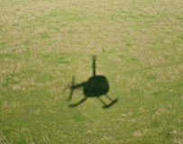 Helicopter shadow Stock Images