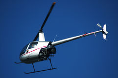 Helicopter sightseeing. Light helicopter on a sightseeing flight Royalty Free Stock Photos
