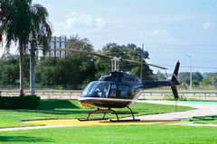 Helicopter for sightseeing flight Royalty Free Stock Photography