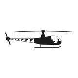 Helicopter sign illustration. Vector. Black icon on white background stock illustration