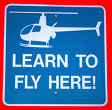 Helicopter Sign isolated Stock Photo