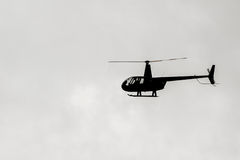 Helicopter Silhouette Royalty Free Stock Image
