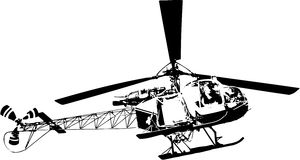 Helicopter silhouette Stock Photo