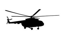 Helicopter silhouette Stock Image