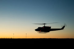 Helicopter silhouette Royalty Free Stock Images