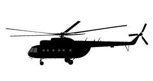 Helicopter of silhouette. Stock Photography